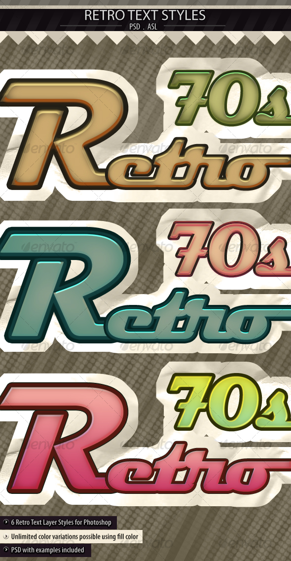 GraphicRiver Retro Text Styles 102123