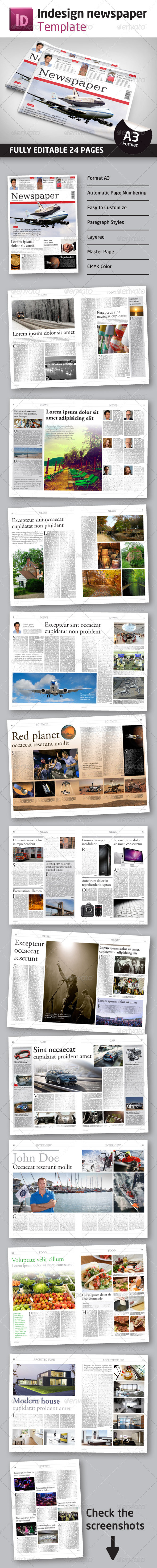 GraphicRiver 24 Pages Newspaper Template in A3 Format 2838181