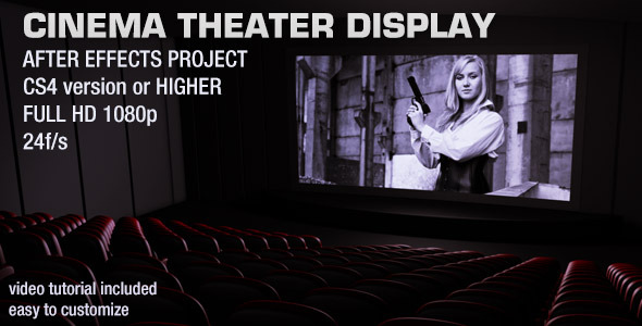 After Effects Project - VideoHive Cinema Theater Display 2839314