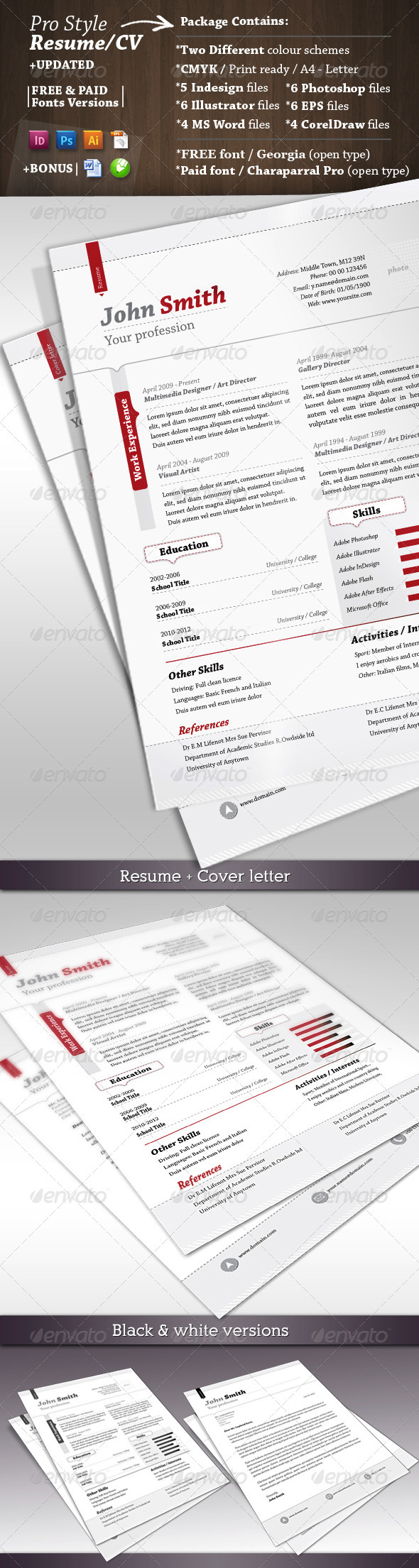 GraphicRiver Pro Style Resume & Cover Letter 1929357
