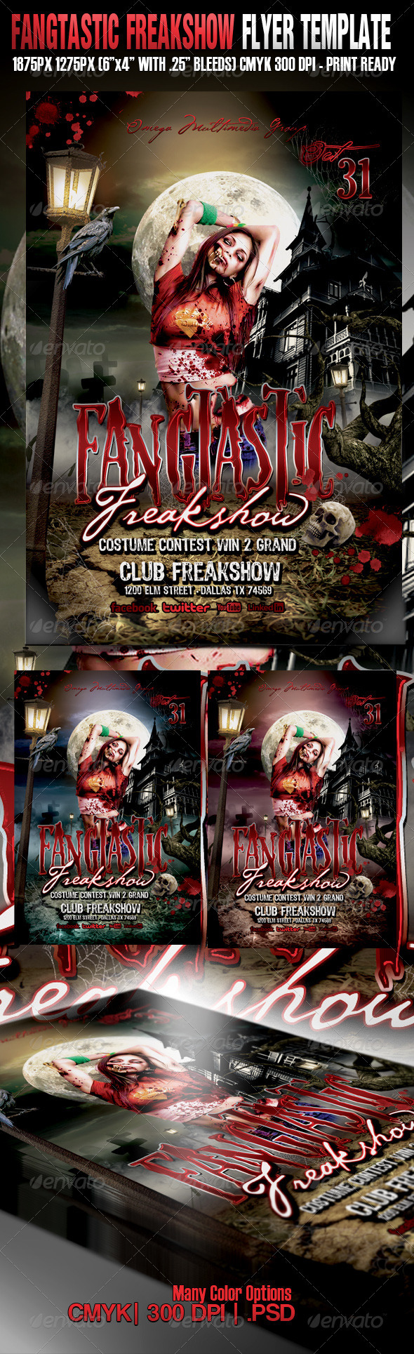Fangtastic Freakshow - Events Flyers