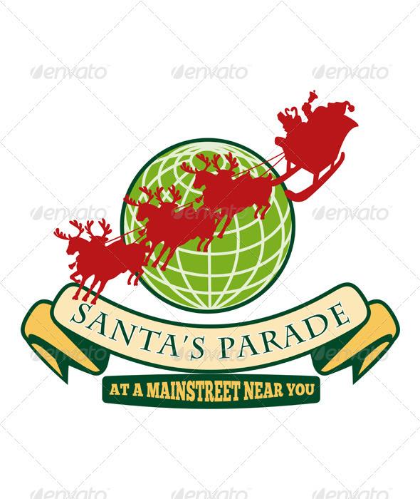GraphicRiver Santa Claus Christmas Globe Reindeer 2839972