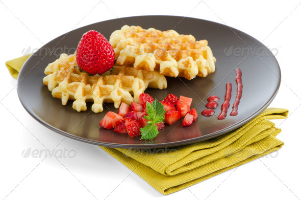 Belgium waffles - Stock Photo - Images