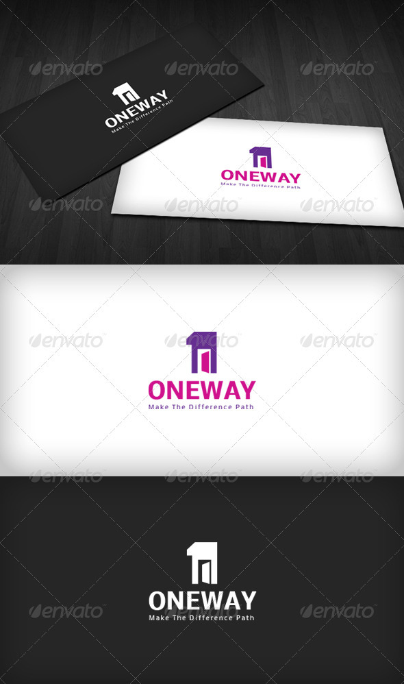One Way Logo - Numbers Logo Templates
