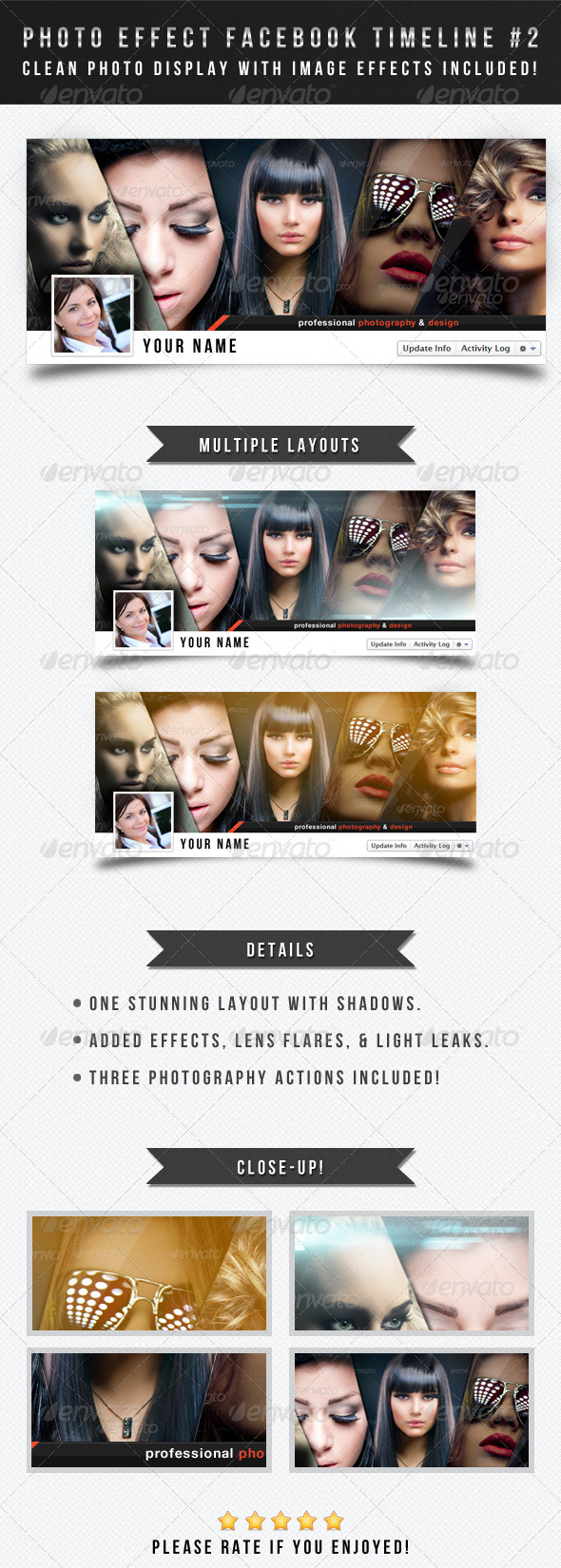 GraphicRiver Photo Effect Facebook Timeline Cover #2 2840253