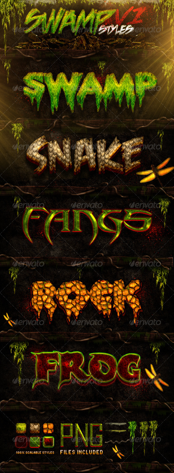 Swamp Styles - Text Effects Styles