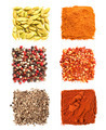 Set of spices heaps isolated on white background - PhotoDune Item for Sale