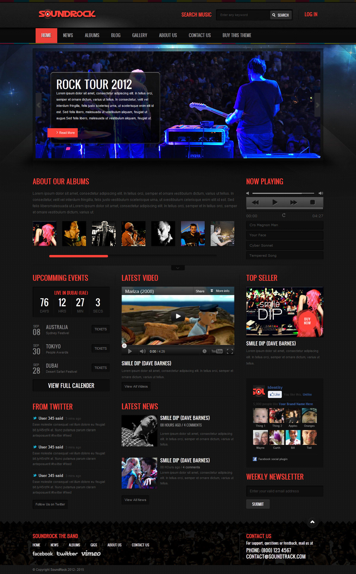 Soundrock - Music Band Club Template