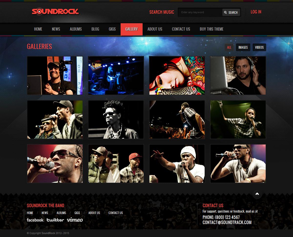 Soundrock - Music Band Club Template