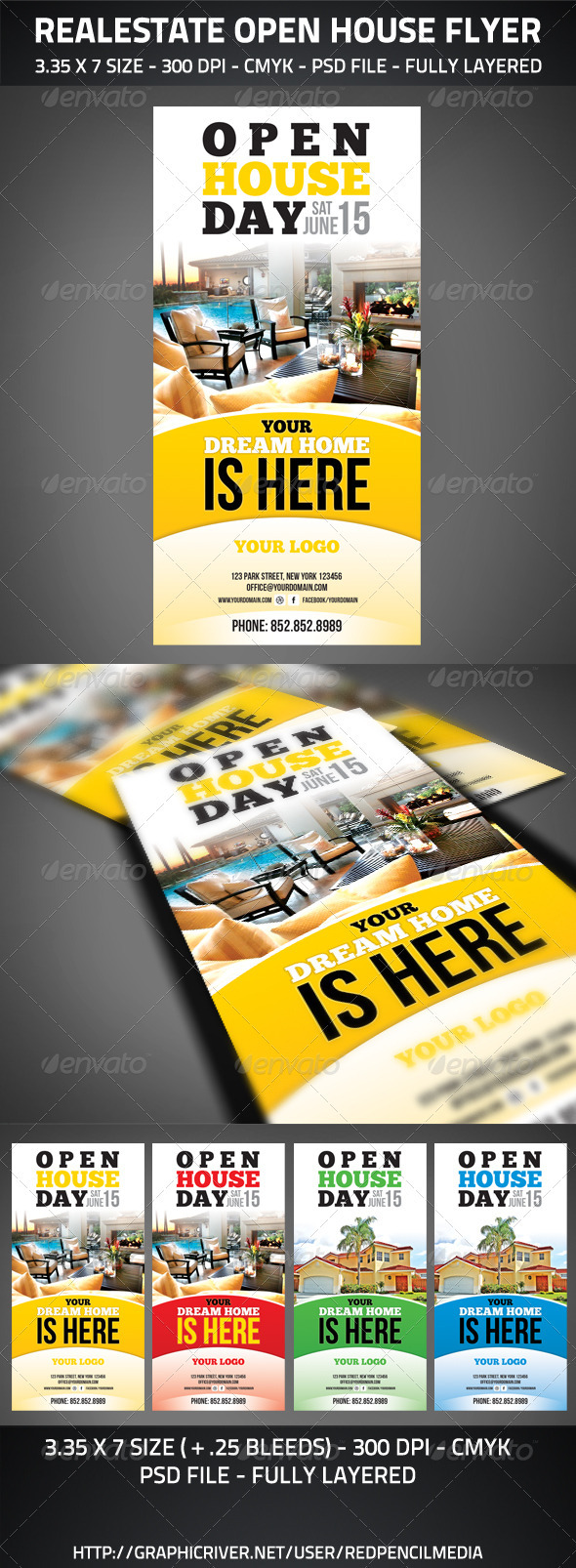 Realestate Open House Flyer - Commerce Flyers
