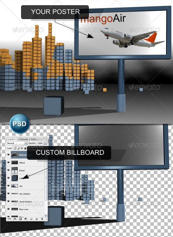 Custom Billboard - 3D Renders Graphics