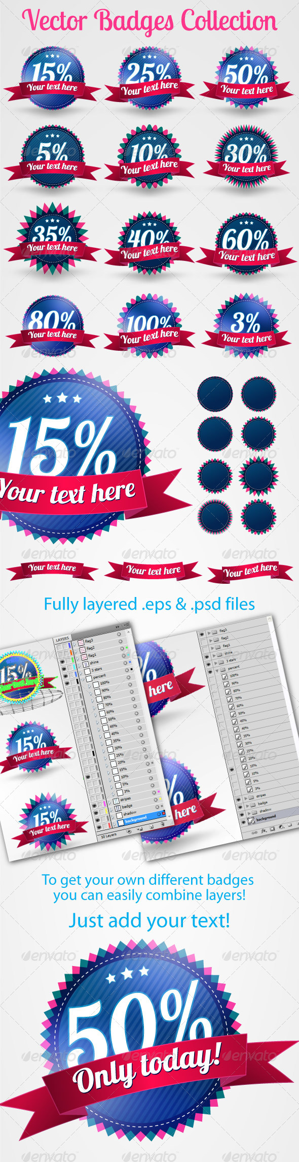 Vector Badges Collection - Badges & Stickers Web Elements