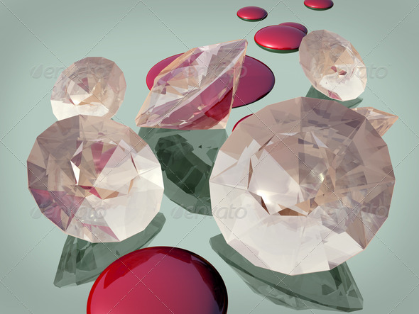 Blood diamonds - Stock Photo - Images