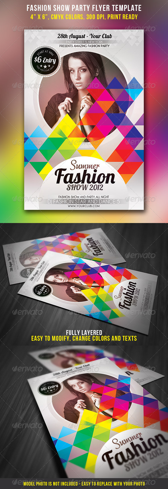 Fashion Show Party Flyer - Events Flyers