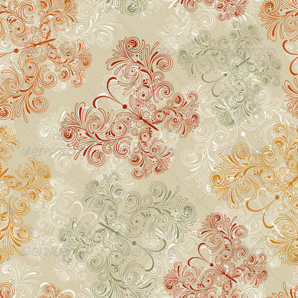 Seamless Pattern with Butterflies - Patterns Decorative