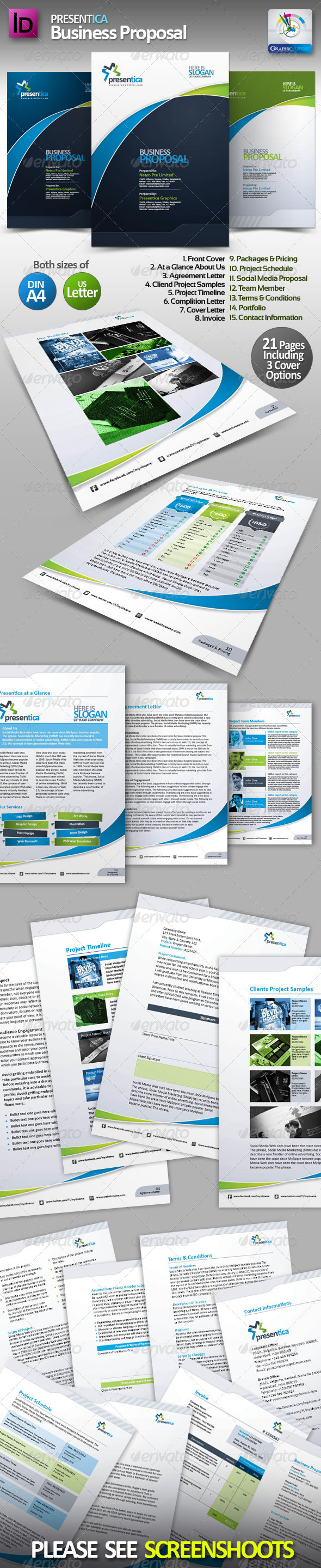 Presentica Business Proposal - Proposals & Invoices Stationery