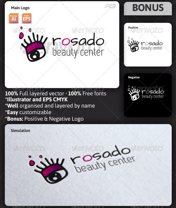 Rosado Beauty Center Logo - Humans Logo Templates