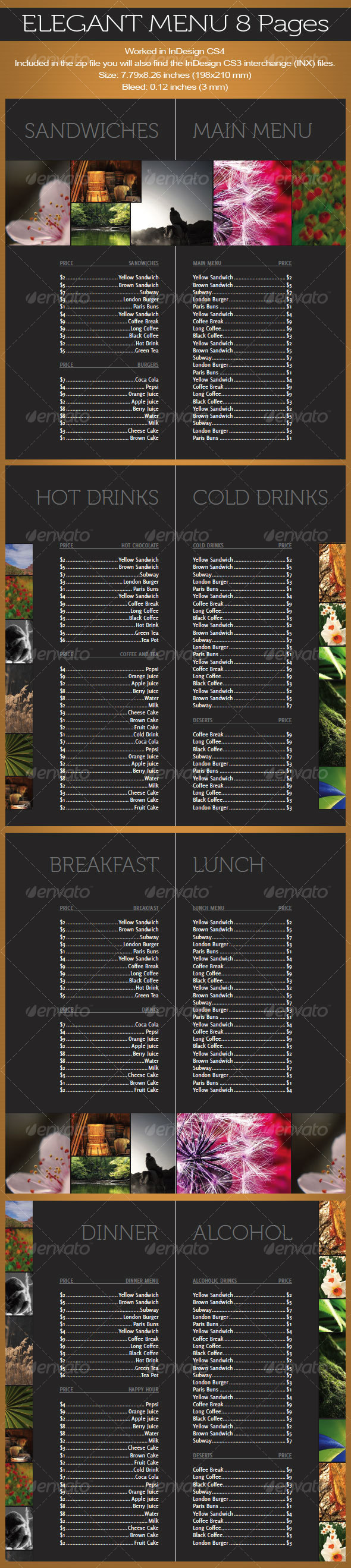 GraphicRiver Elegant Menu 8 pages 102332