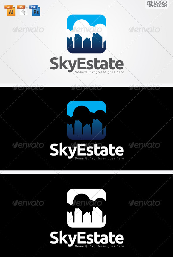 SkyEstate - Buildings Logo Templates