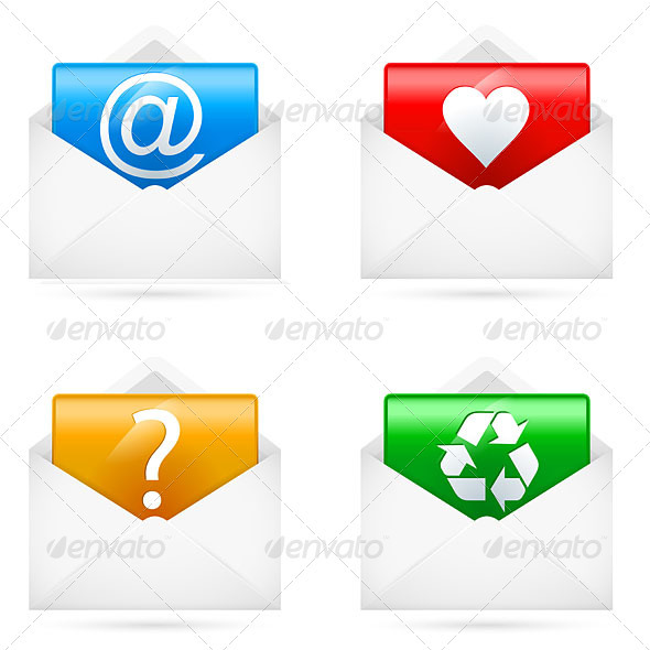 E-mail icons - Web Elements Vectors