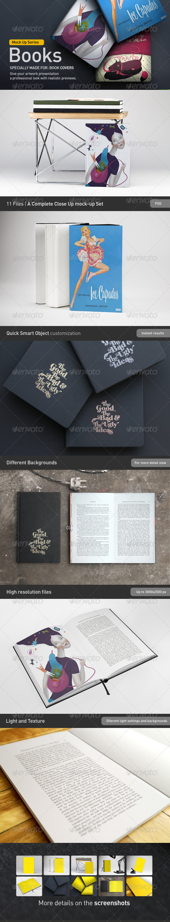 GraphicRiver Book Brochure Mock-Up 2845759