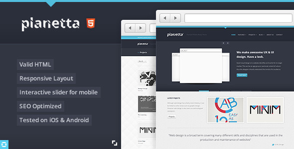 PLANETTA Responsive HTML CSS3 Template