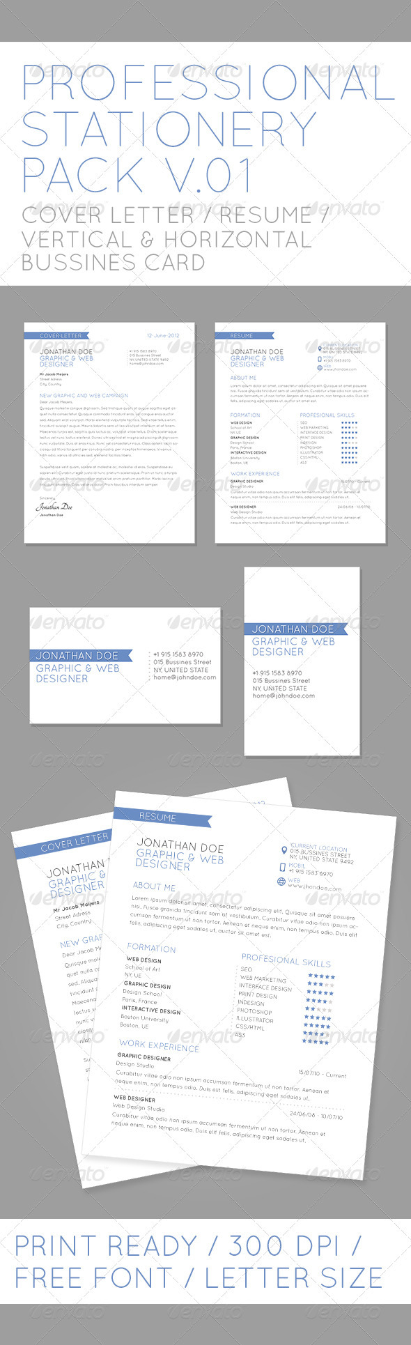 Profesional Stationery Pack V01