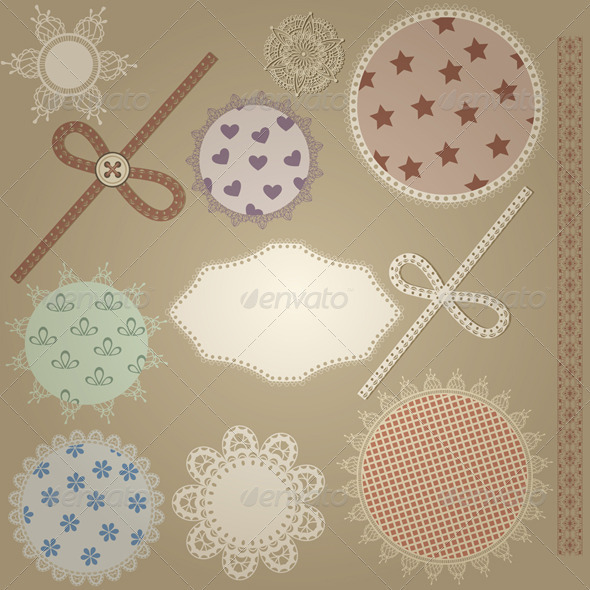 Vector Scrapbook Design Elements - Decorative Symbols Decorative