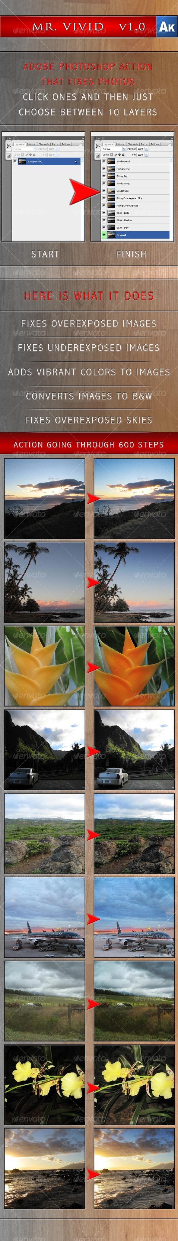 Mr. Vivid   v1.0 for Adobe Photoshop - Photo Effects Actions