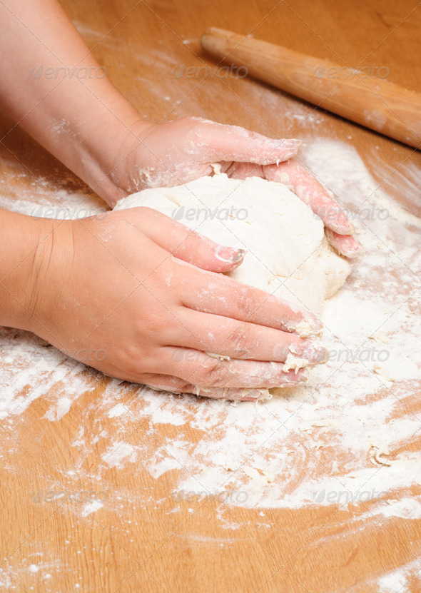 Cooking dough - Stock Photo - Images