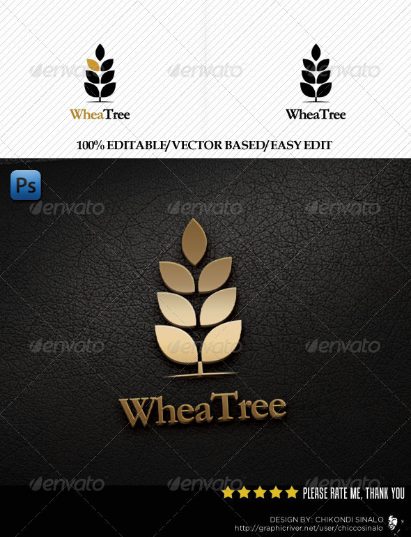WheaTree Logo Template - Nature Logo Templates