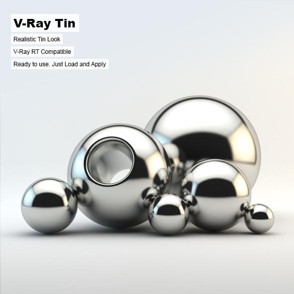 3DOcean V-Ray Tin Material 2846900