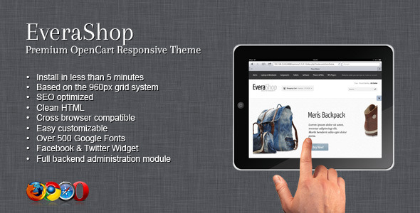 ThemeForest EveraShop Premium OpenCart Responsive Theme 2198625