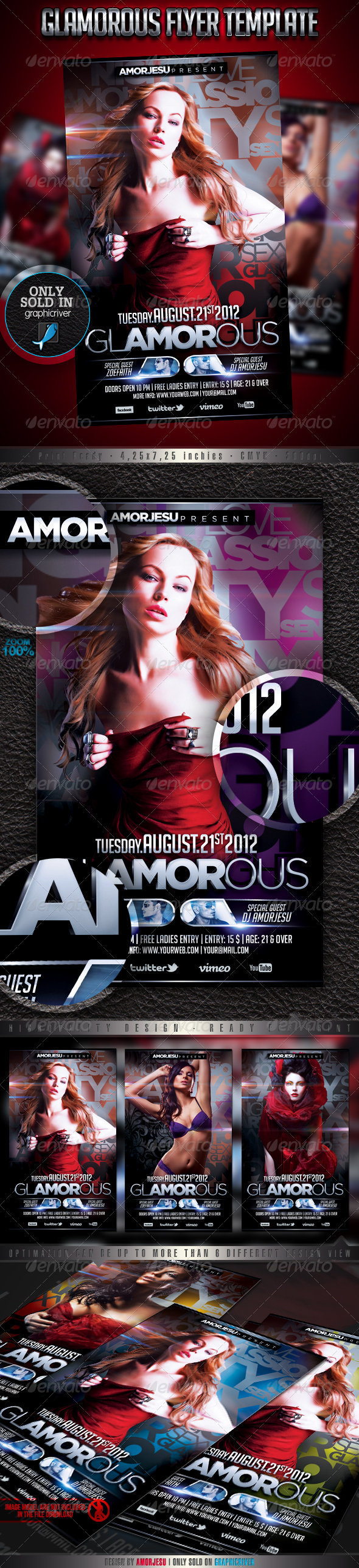 Glamorous Flyer Template - Events Flyers
