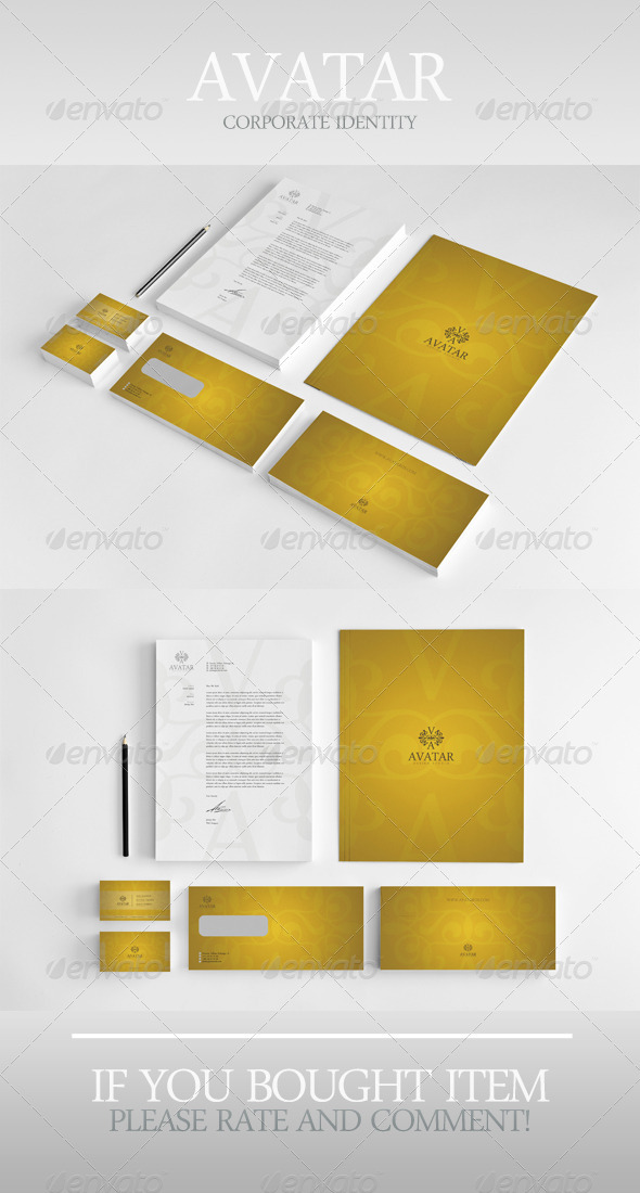 Avatar Corporate Identity - Stationery Print Templates