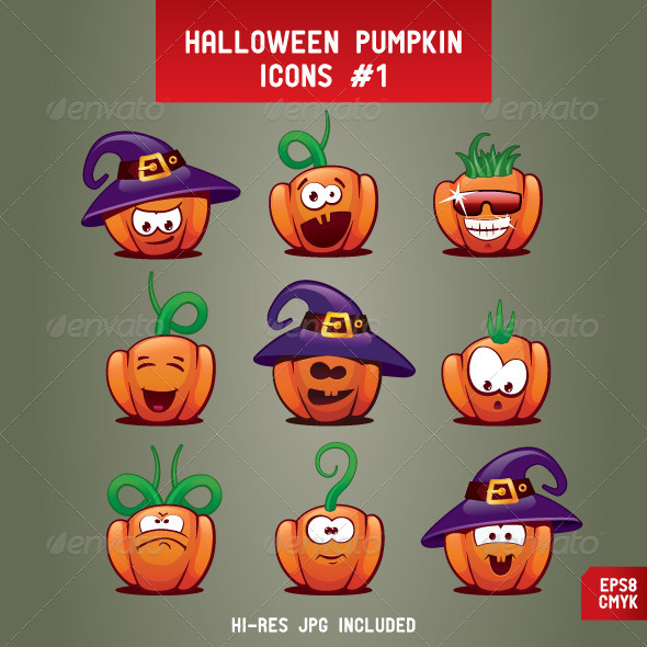 Halloween Pumpkin Icons - Halloween Seasons/Holidays
