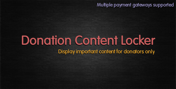 CodeCanyon Donation Content Locker 2847955