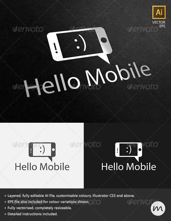 GraphicRiver Hello Mobile Social Phone Logo Template 2535560