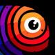 Creative Fish Graphic Design Studio Bright Logo - GraphicRiver Item for Sale