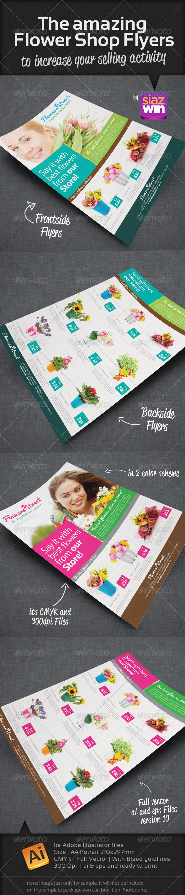 The Amazing Flower Shop Flyers - Commerce Flyers