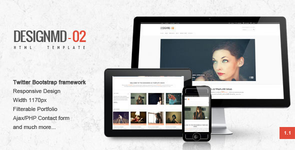 ThemeForest Designmd 02 Responsive HTML Template 2762931