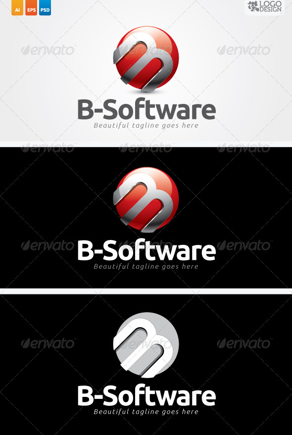 B-Software - Letters Logo Templates