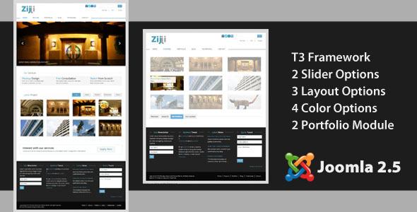 Zijji - Corporate JomSocial Ready Joomla Template
