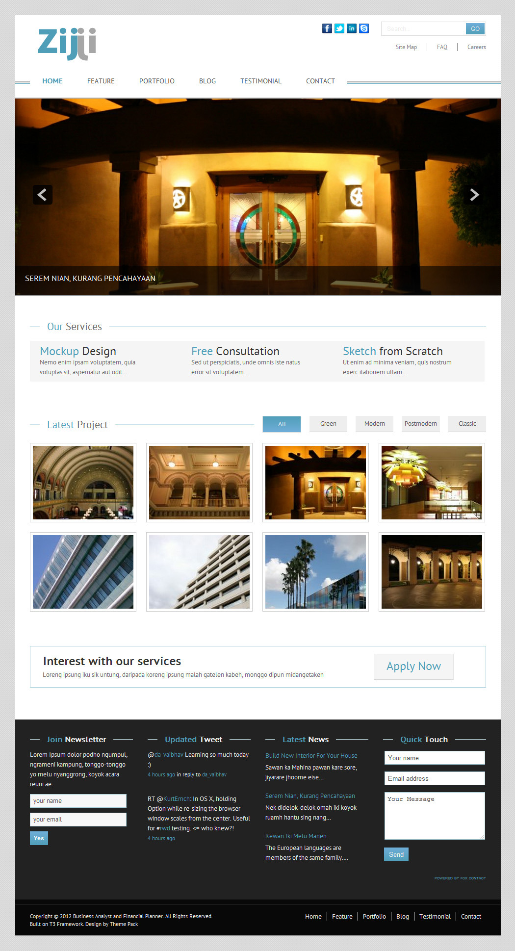 Zijji - Corporate JomSocial Ready Joomla Template
