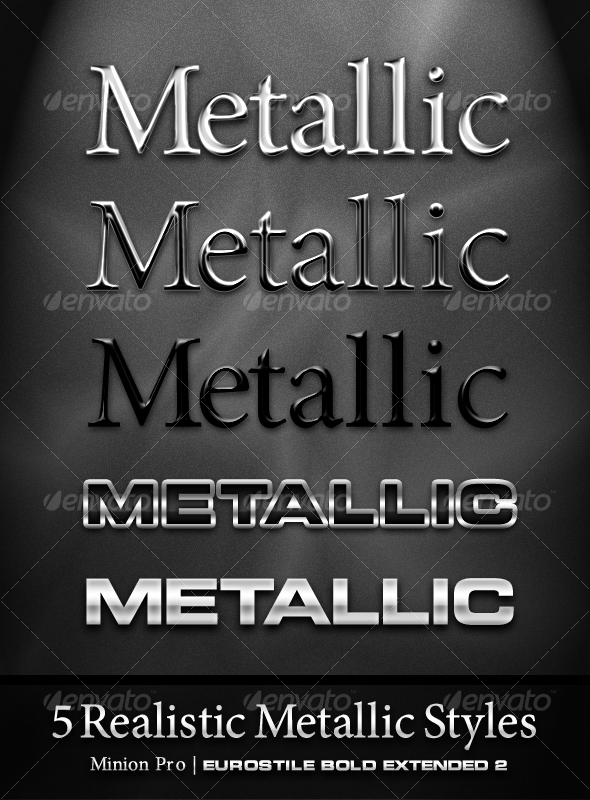 5 Realistic Metal Styles - Text Effects Styles