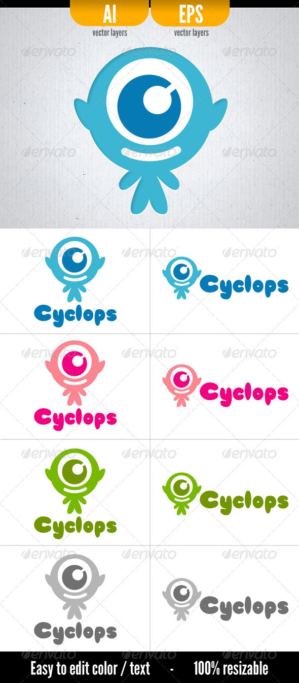 Cyclops - Humans Logo Templates