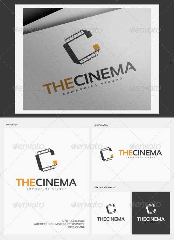 The Cinema Logo - Letters Logo Templates
