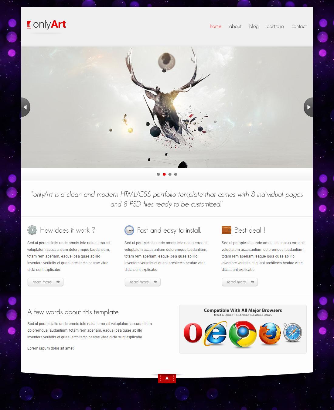 onlyArt | HTML/CSS Portfolio Template