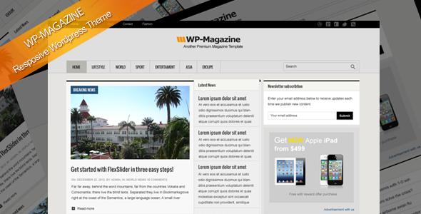 WP-Magazine responsive Wordpress theme