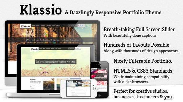 Klassio - Responsive Business Portfolio Theme